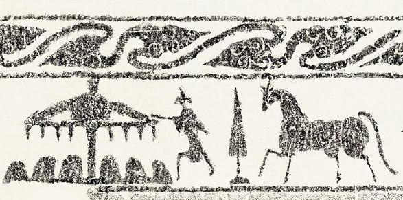 Qílín grabado en piedra dinastía Han
